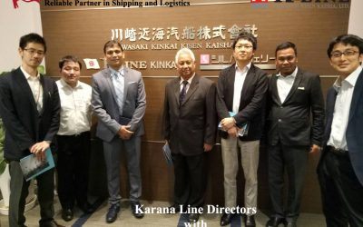 Karana Line Directors with Kawasaki Kinkai Kisen Kaisha Team in Tokyo, Japan, Mei 2017